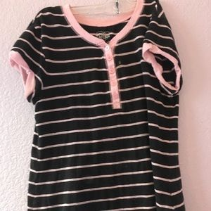 Pink and black stripped shirt